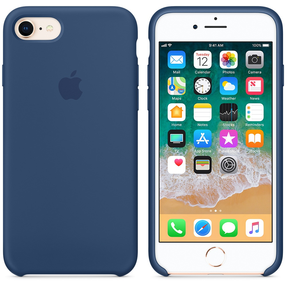 "Apple silicon case iPhone 7/ iPhone 8  ""Blue Cobalt"""