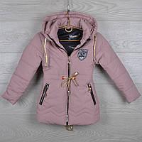 """Куртка детская демисезонная """"NY"""" 3-4-5-6-7 лет (98-122 см). Пудра. Оптом., фото 1"""