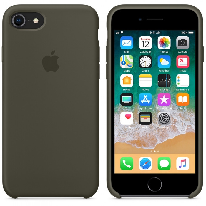 "Apple silicon case iPhone 7/ iPhone 8  ""Dark Olive"""