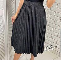 Модная юбка плиссе теплая Разные цвета размеры 44 - 50