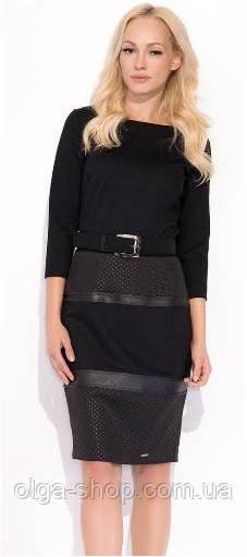 Платье женское черное до колена ZAPS
