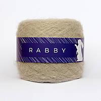 Пряжа с альпакой RABBY Alpaca кремовая 50г