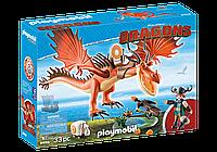 """Playmobil 9459 Сморкала и Криволык """"Как приручить дракона 3"""""""