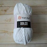 Плюшевая пряжа YarnArt Dolce Белый