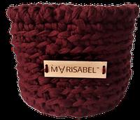 Корзинка для косметики бордового кольору, фото 1