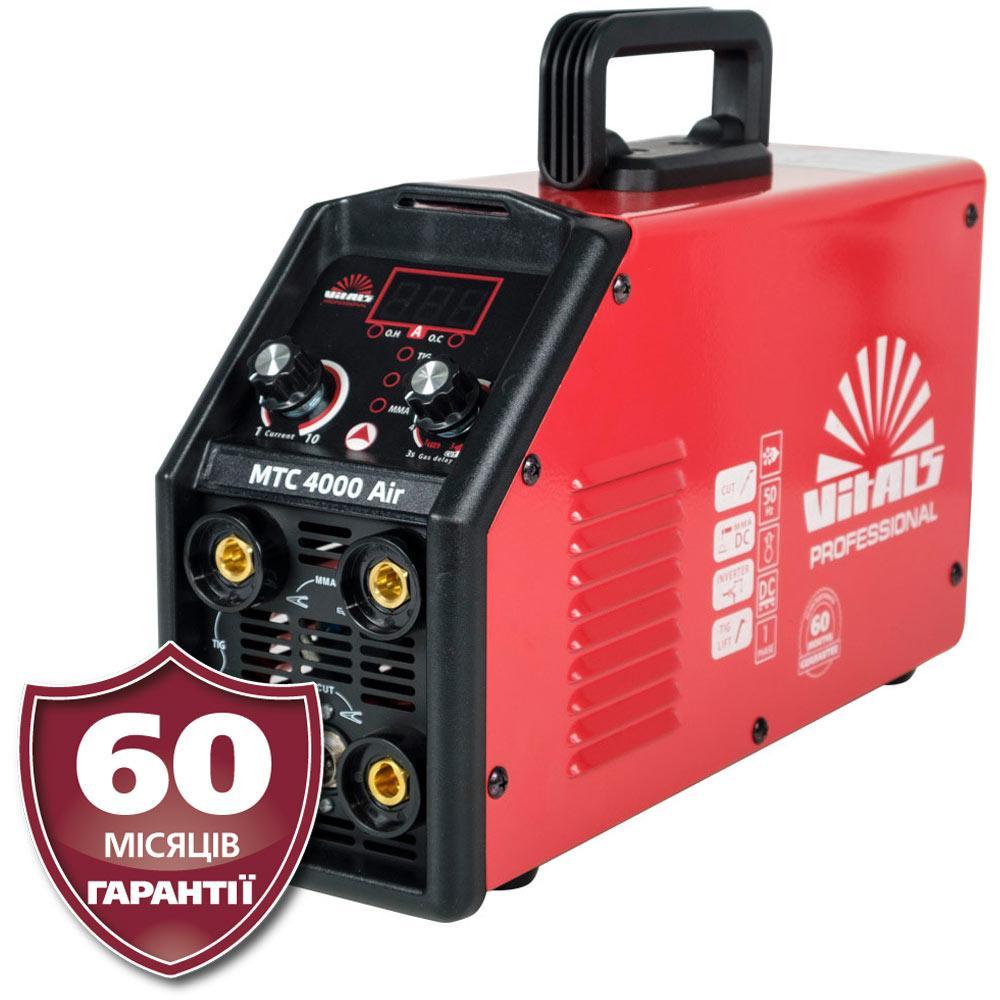 Плазменный резак + инвертор ( CUT+TIG LIFT+ ММА), Латвия Vitals Professional MTC 4000 Air