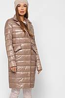 Женская демисезонная удлиненная куртка, пальто на биопухе, оригинал