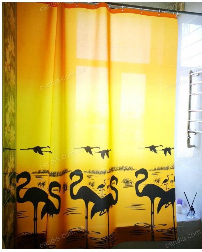 Шторка для ванної з кільцями Miranda FLAMINGO YELLOW (Туреччина) 180х200 см