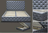 Кровать Каретка в мягкой обивке, фото 5