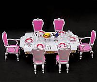"""Мебель для кукол """"Глория"""". Столовая. Обеденный стол. Мебель для Барби."""