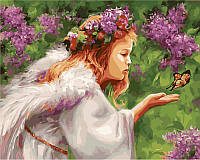 Раскраска по цифрам Поцелуй бабочки худ Бондарь Наталья (VP435) 40 х 50 см, фото 1