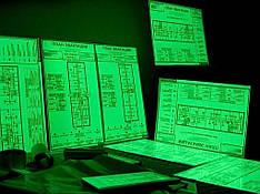 Фотолюминесцентный (светящийся) план эвакуации, 1шт, A4