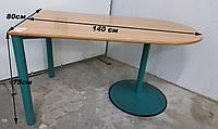 Стіл офісний закруглений 140х80х75см, фото 1