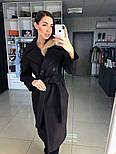 Жіноче демісезонне вовняне двобортне пальто з поясом (в кольорах), фото 3