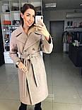 Жіноче демісезонне вовняне двобортне пальто з поясом (в кольорах), фото 6