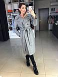 Жіноче демісезонне вовняне двобортне пальто з поясом (в кольорах), фото 7
