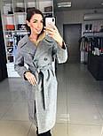 Жіноче демісезонне вовняне двобортне пальто з поясом (в кольорах), фото 8