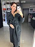 Жіноче демісезонне вовняне двобортне пальто з поясом (в кольорах), фото 10