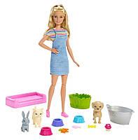 Кукла Barbie купание питомцев Барби Wash Pets Playset, Mattel