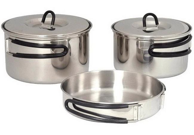Набор посуды Tatonka (две кастрюли, сковорода), Regular 4000.000