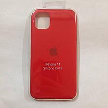 Чехол для iPhone 11 Silicone Case Red