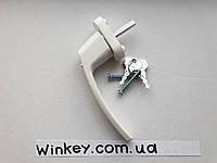 Ручка с ключом оконная Victory белая оригинал Польша