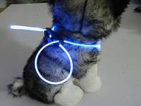 Декоративный шнурок для подсветки ошейника 80 см синий