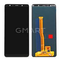Дисплей Samsung A750 Galaxy A7 2018 черный (TFT экран, тачскрин, стекло в сборе)