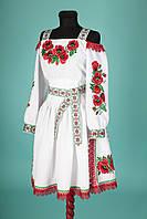Стилизованное платье-вышиванка под заказ!