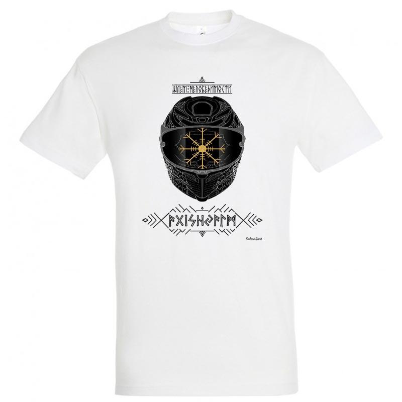 "Байкерская футболка ""Шлем Непобедимости"""