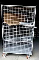 Тележка сетчатая контейнерная на колесах
