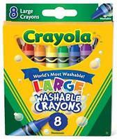 Большие восковые мелки карандаши (8шт) Crayola из США. Пусть дети рисуют- все отмоется!