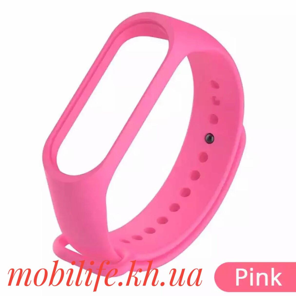Ремешок для фитнес-браслета Xiaomi Mi Band 2 Розовый