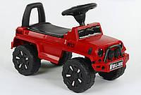 Машина-Толокар, цвет КРАСНЫЙ, РУССКОЕ ОЗВУЧИВАНИЕ, СВЕТОВЫЕ ЭФФЕКТЫ, багажник JOY 808 G-8207