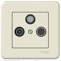 TV-R-SAT Розетка оконечная крем Leona Schneider Electric