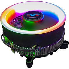 Кулер для процессора Frime Iris Algidity (FCF-IR-ALG-RGB) с подсветкой Intel AMD 3pin