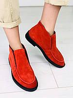 Женские красные туфли-лоферы