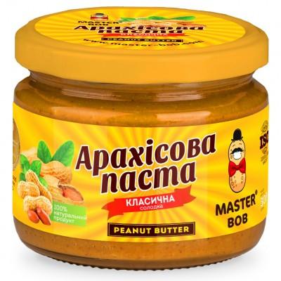 Арахисовая паста Master Bob - Sweet Peanut Butter Классическая сладкая (300 грамм)