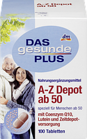 Биологически активная добавка A-Z Depot от 50 лет, с лютеином Das Gesunde Plus 100 шт.
