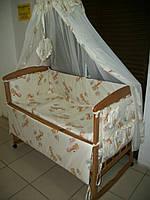 """Комплект постельного белья 8 предметов """"Жирафики"""" бежевый"""