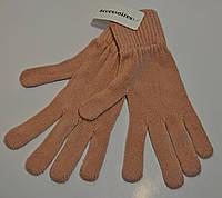 Перчатки женские вязаные C&A розовые