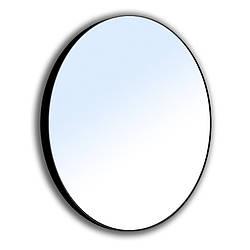 VOLLE Зеркало круглое 60*60см на стальной крашенной раме, черного цвета