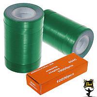 Лента для степлера для подвязки зелёная TITAN 20 штук + скобы TITAN