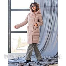 Теплое зимнее женское пальто хорошего качества