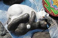 Кот пара Инь-Янь 65 см керамика большой керамический скульптура кошка