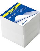 Блок білого паперу 90х90х70мм, не склеєний