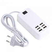 Адаптер блок питания зарядное устройство на 6 USB порта usb hub 220v