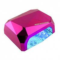 УФ лампа для наращивания ногтей на 36 Вт Beauty nail CCF + Led сенсор гель, лак Малиновый, фото 1