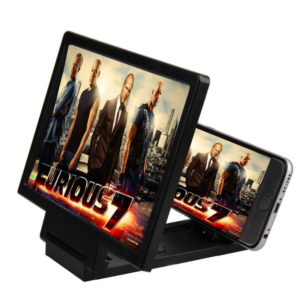 3D Подставка-увеличитель экрана для смартфона 2Life F1 Черный (nri-838)