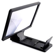 3D Подставка-увеличитель экрана для смартфона 2Life F1 Черный (nri-838), фото 2